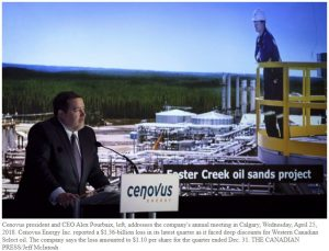 Cenovus vows to build crude-by-rail capacity as it reports $1.36-billion Q4 loss
