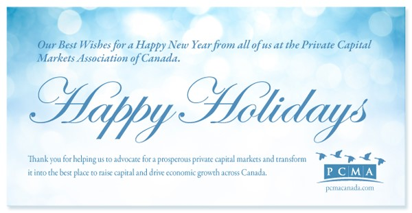 Go tell it on the Mountain! Let's celebrate the critical role the Private Capital Markets play in keeping Canada open for business!