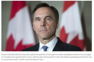 Federal budget to target Canada-wide high speed internet by 2030