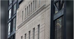 TSX edges lower on losses in CannTrust shares, recession fears