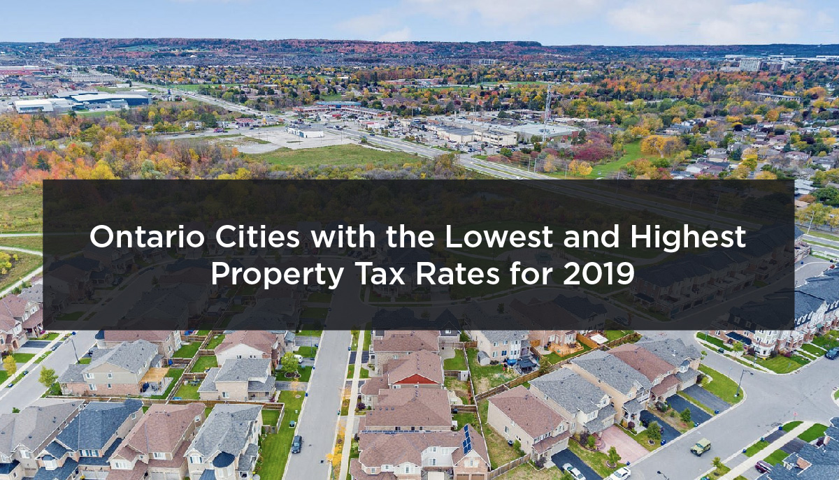 Ontario Cities with the Highest and Lowest Property Tax Rates