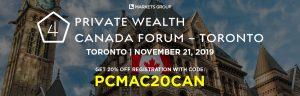 4th Annual Private Wealth Canada Forum – Canada