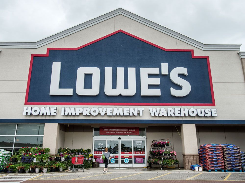 Lowe's is closing 34 'underperforming' stores in Canada, including 26 Ronas
