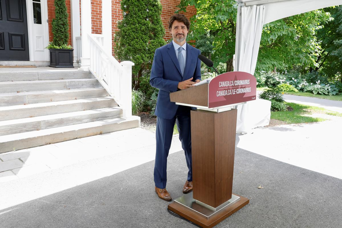 Canada to spend C$19 billion on 'safe restart' after lockdown, Trudeau says