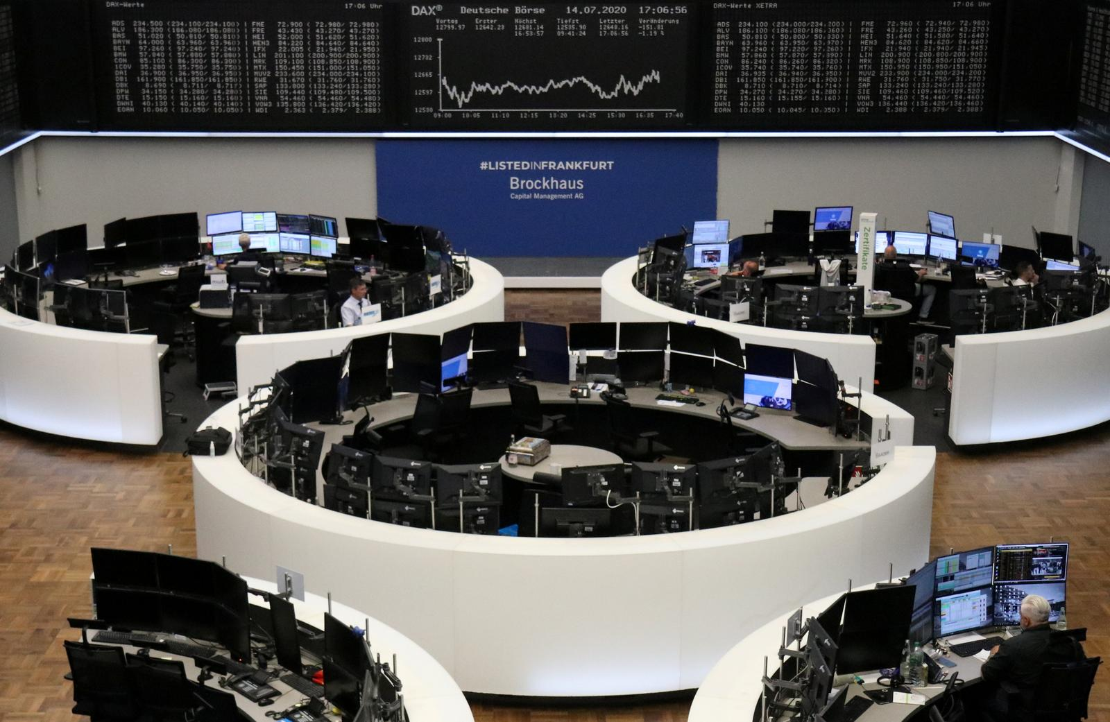 Tech sell-off weighs on Europe as virus fears mount; FTSE 100 outperforms