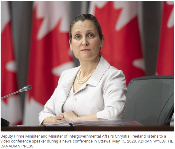 Trudeau set to name deputy PM Chrystia Freeland as new finance minister: Sources