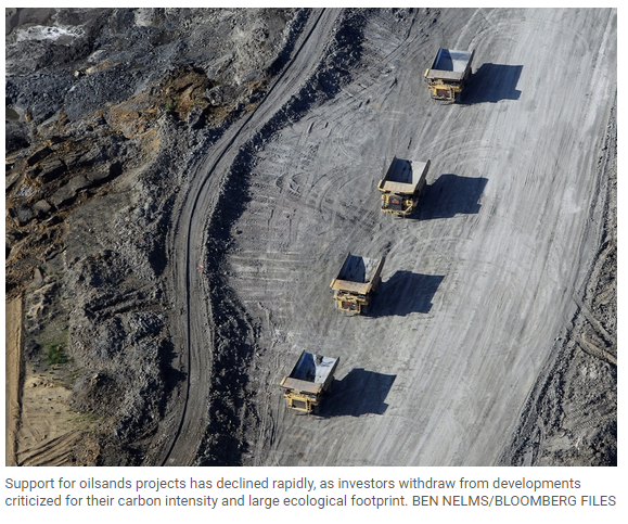 Canada defends role for oilsands projects in 'messy' energy transition